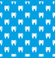 tooth in mouth pattern seamless blue vector image vector image