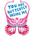 valentine butterfly vector image vector image