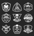 vintage tatoo studio logos set vector image vector image