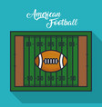 green american football field vector image