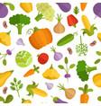 vegetables cartoon seamless vector image