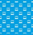3d printer model pattern seamless blue vector image vector image