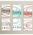 Abstract color lines on a white background vector image vector image