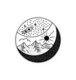 adventure badge design camping crest logo vector image vector image