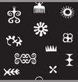 african symbols pattern with trybal icons vector image