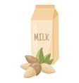 almond milk vector image vector image