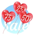 balloons hearts sale vector image vector image