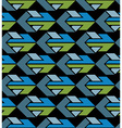 Bright abstract seamless pattern with arrows vector image