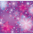 Bright colorful floral background vector image