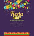 bright poster inviting to fiesta party vector image vector image