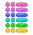 Cartoon colorful buttons vector image vector image