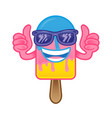 cartoon ice cream vector image vector image