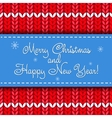 Christmas card with knit ornament vector image