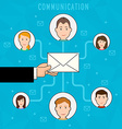 Communication process flat web infographic of vector image
