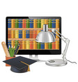 Computer Library Concept vector image vector image