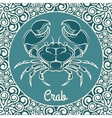 Crab logo template vector image vector image