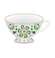 decorative porcelain tea cup ornate vector image