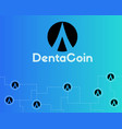dentacoin blockchain technology world style vector image vector image