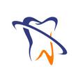 dentist medical stomatology dental clinic logo vector image vector image