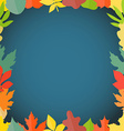 Different color autumn leaves greeting frame vector image vector image