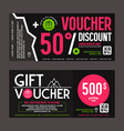 Discount and gift voucher template vector image
