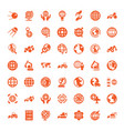 earth icons vector image vector image