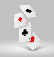 falling poker playing cards aces casino vector image