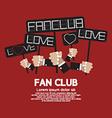 Fan Club Showing Message Board vector image vector image