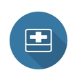 First Aid Symbol Flat Design Long Shadow vector image vector image