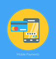 Flat design concept for Mobile Payments for vector image