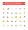 Flat Management Icons vector image vector image
