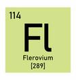 flerovium chemical symbol vector image vector image