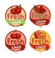 fresh juice emblem set 3 vector image