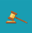 gavel judge isolated on a colored background vector image vector image