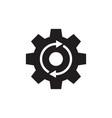 gear cogwheel with arrows - black icon vector image vector image