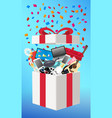 general object in a opening gift box vector image