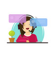 girl chatting flat cartoon vector image vector image
