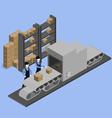 goods warehouse vector image