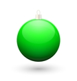 Gradient christmas green ball vector image
