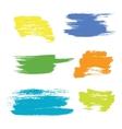 Grunge hand drawn brush stroke set vector image vector image