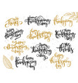 Hand lettering greeting happy thanksgiving