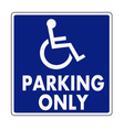 Handicapped parking sign vector image vector image