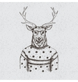 Hipster deer dressed in the blouse vector image vector image