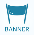Icon or sign of banner in flat style vector image vector image