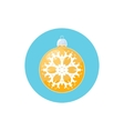Icon Yellow Ball with Snowflake vector image vector image