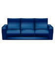 isolated blue sofa vector image vector image