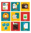 Job Interview nine flat items concept vector image vector image