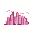 line city pink color vector image vector image