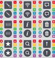 Link Wi-Fi Chat bubble Equalizer Information Trash vector image vector image