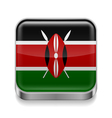 Metal icon of Kenya vector image